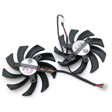 2pcs/lot POWER LOGIC PLD09210S12HH DC12V 0.40A 86mm 4Pin For XFX R9 280X 270X 290X Graphics Card Cooling Fan