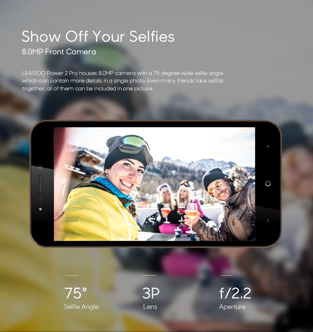 LEAGOO POWER 2 PRO 4000mAh Face ID Fingerprint Smartphone 2GB+16GB Dual Camera Android 8.1 Quad Core 5.2' HD 4G Mobile Phone (7)