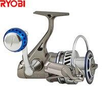 RYOBI 1000 8000 Spinning Fishing Reel 5.0:1/6+1BB CNC Hanle Molinete Para Pesca Fishing Reels Moulinet Peche Olta Zew Applause