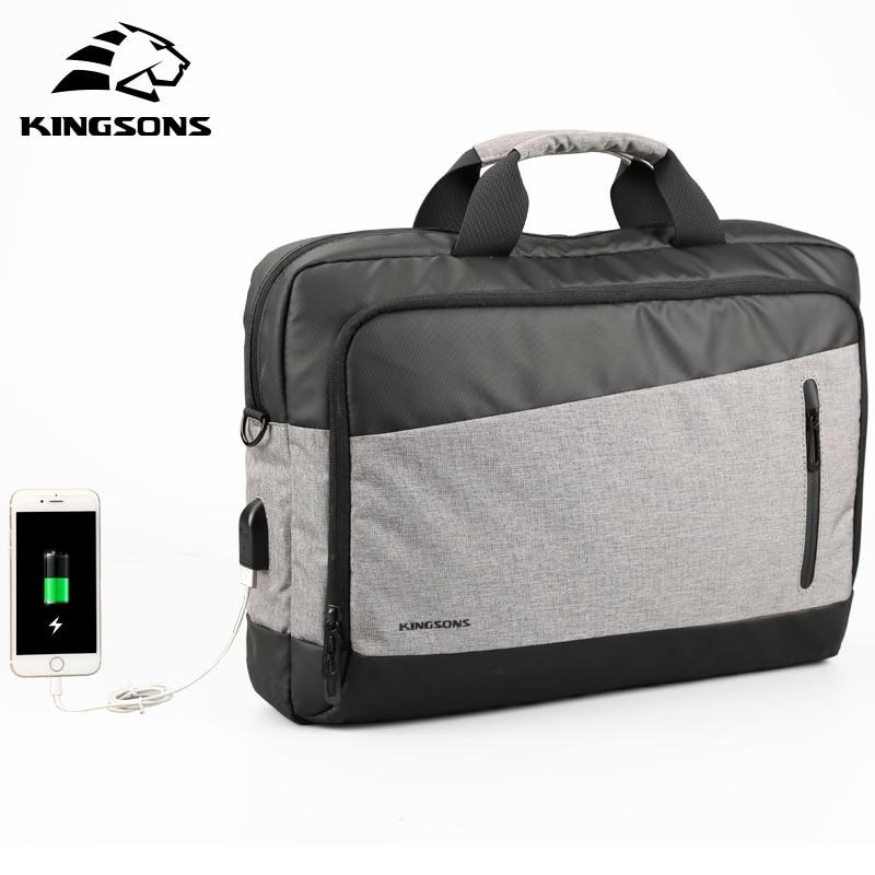 Kingsons Casual Men Totes USB Charging Shoulder Crossbody Bags Men s Messenger Bag