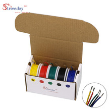 100 meters 328 ft 20awg flexible silicone wire tinned copper wire and cable stranded wire 10 color optional diy wire connection 18/20/22/24/26/28 AWG 1007 (5-color hybrid twisted wire kit) wire and cable wire tinned copper wire internal connection wire DIY