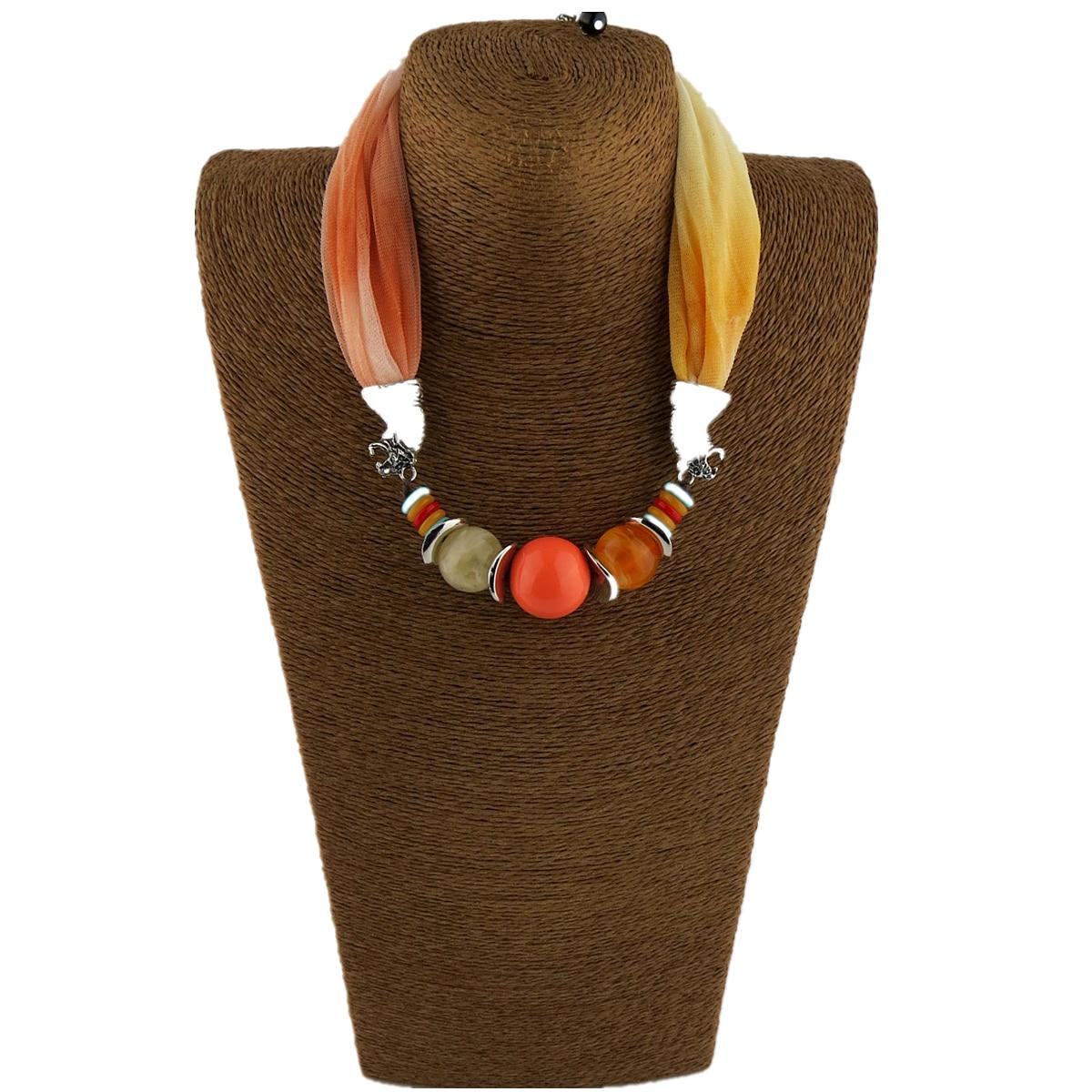 Fashion Scarf Beads Pendant Design Ladies Scarf Jewelry Necklace Pendant