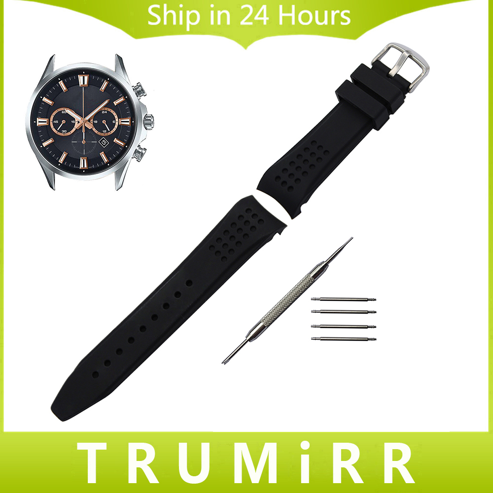 Curved End Silicone Rubber Watchband 22mm for Casio Edifice Lineage Watch Band Wrist Strap Stainless Steel