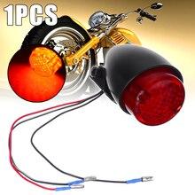 Treyues 1pc 12V Motorcycle Brake Lamp Universal Stop Running Rear Tail Light For Cafe Racer Bobber