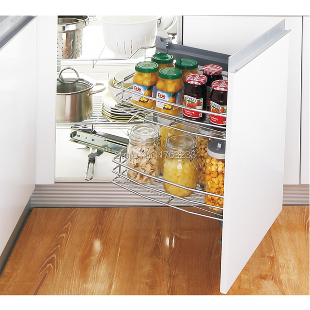 Kitchen Cabinet Magic Corner Wire Drawer Basket Soft Close Unit Storage Baskets