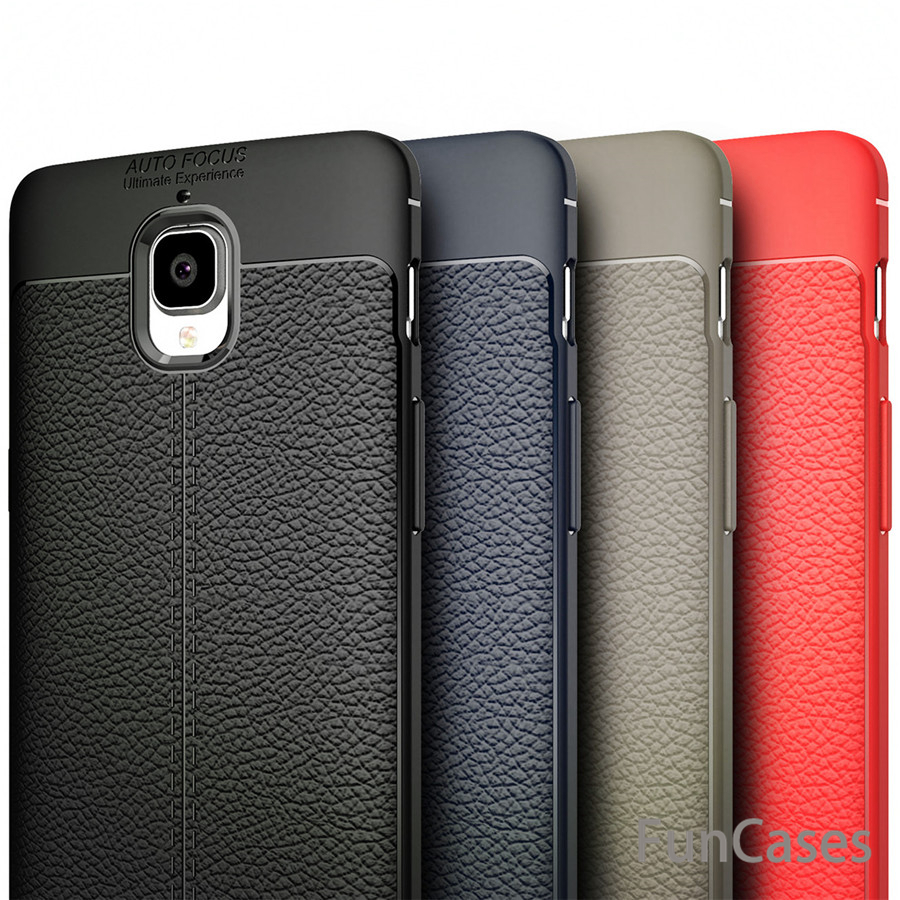 8c28eeb2813 For One plus 3 case Oneplus 3 Case Luxury Leather TPU Silicone Phone Case  For Oneplus3 Oneplus 3T Back Cover Accessory vendita
