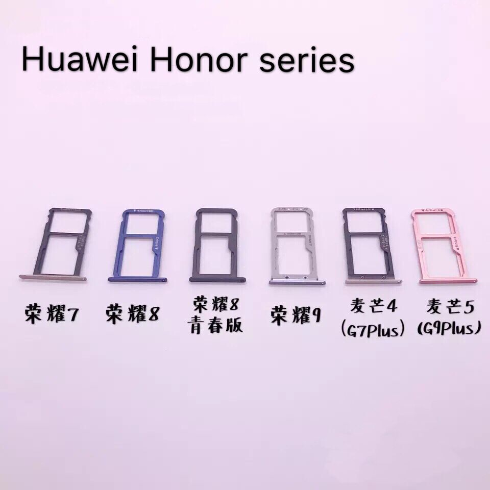 Honor 7/<font><b>8</b></font>/9/G7plus/G9 Youth Version Maimang 4/5 <font><b>Dual</b></font> <font><b>SIM</b></font> SD TF Cato Card Socket Holder Reader Adapter Connector Repair Accessory image