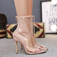 Multicolored Sandals Pvc Shoes 2019 Women's Suit Female Beige High Heels Plastic Pointed Sale Stiletto Heeled Comfort Block For