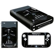 Transporte da gota livre Branco De Fibra De Carbono Vinil Adesivo Protetor Da Pele para Nintendo Wii U e controlador skins Adesivos