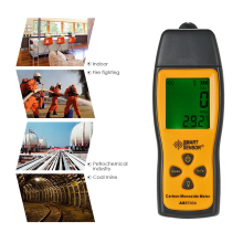 цена на Professional CO Gas Analyzer mini Carbon Monoxide Meter Tester gas Detector Monitor LCD diaplay Sound + Light Alarm 0-1000ppm