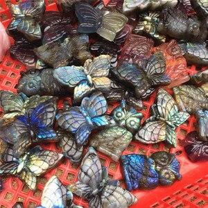 Image 5 - طبيعي لبرادوريت أزرق اليد منحوتة البومة مصقول كريستال أحجار الفراشة للبيع