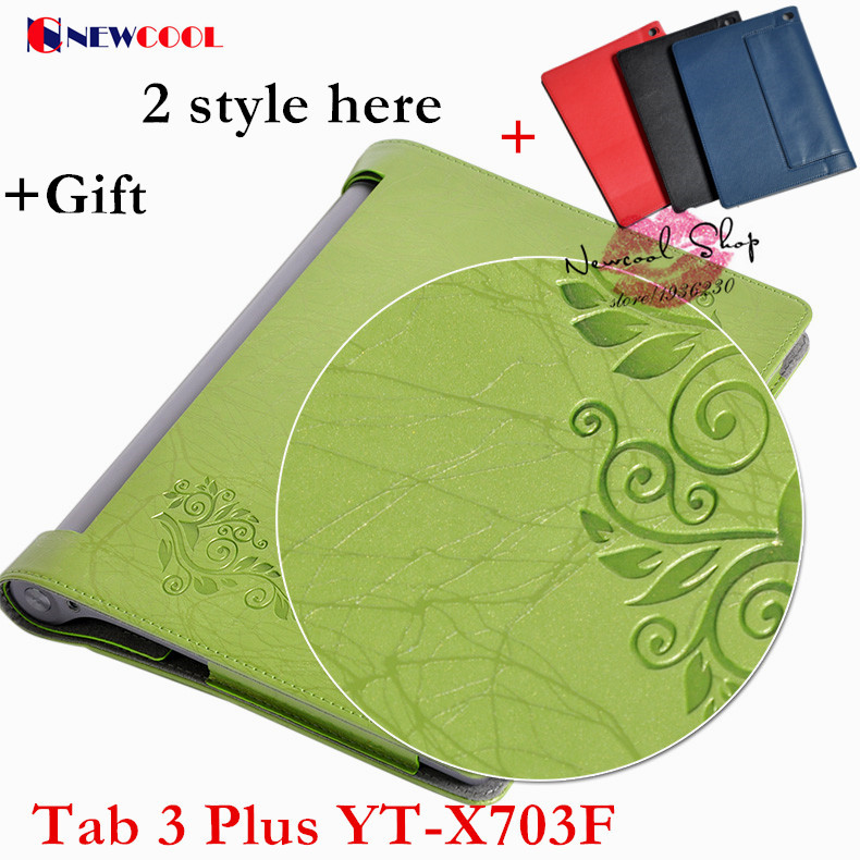 Yaga Tab3 plus Elegant Floral PU Leather Case Flip Cover For Lenovo Yoga Tab3 Tab 3 Plus YT-X703F 10.1