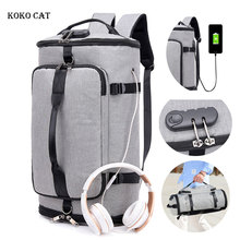 Men USB Waterproof Charging Anti-theft Backpack Large Capacity Sport Casual Backpacks Teenager Muti-pocket Camping Climbing