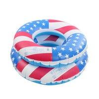 80センチ/90センチ米国旗pvcインフレータブル水泳チューブ周リング水泳アームリングライフブイフロートいかだ水プール厚み環境