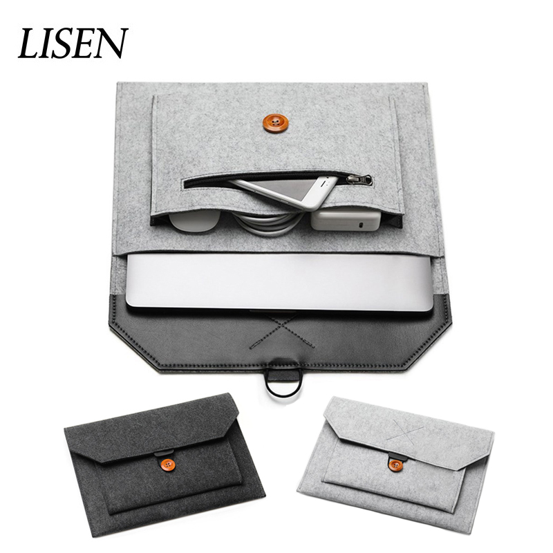 2019 Hot Fashion Felt Sleeve Laptop Bag 15.6 Cover For Macbook Pro 13 Retina 11 12 New 15 Touch Bar For Xiaomi Mi Air 13.3 Case2019 Hot Fashion Felt Sleeve Laptop Bag 15.6 Cover For Macbook Pro 13 Retina 11 12 New 15 Touch Bar For Xiaomi Mi Air 13.3 Case