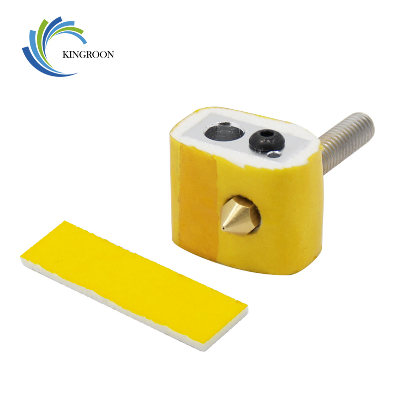 10pcs 3mm Thickness Heating Block Cotton Heat Insulation Part For MK8 MK9 Extruder 3D Printers Parts Thick Heated Protect Tape 2