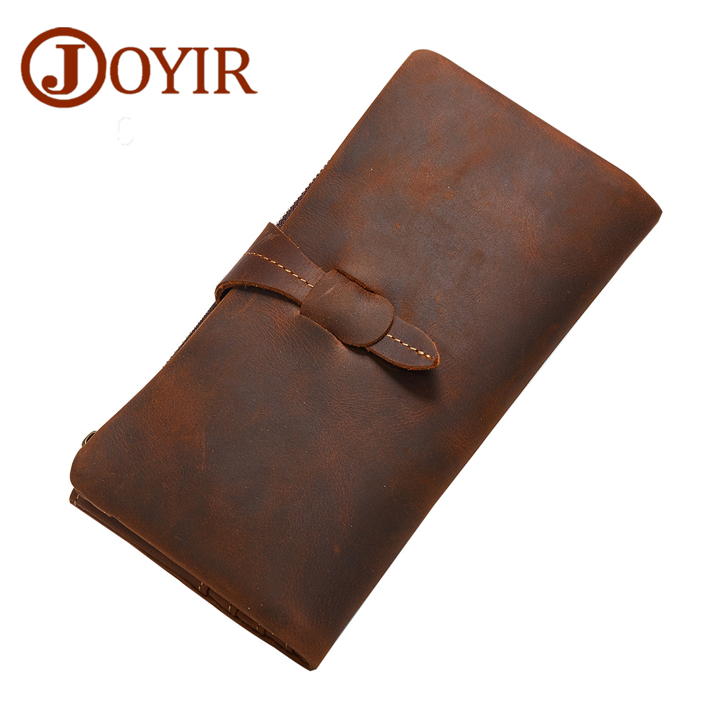JOYIR 2017 New Men Genuine Leather Wallet Long Wallet Male Wallets Handbag Male Clutch Bag Coin Purse Money Card Holder 2037 genuine leather men business wallets coin purse phone clutch long organizer male wallet multifunction large capacity money bag