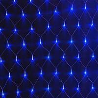 1 5mX1 5m 96 LED Net Mesh Fairy String Light 8 Display Modes Window Curtain Festival