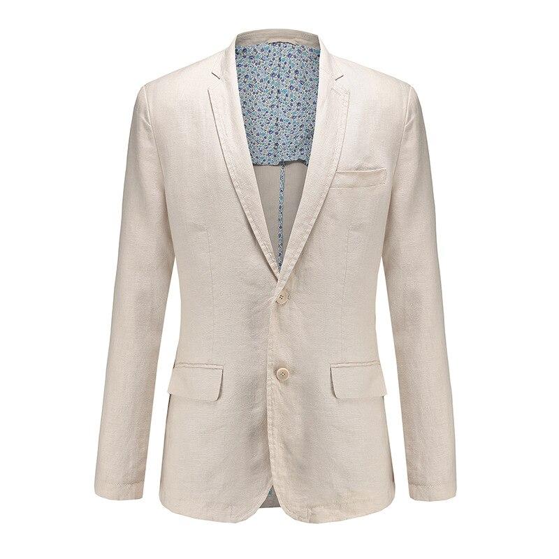 2018 mens linen suit lapel leisure suit comfortable breathe freely pure color cultivate ones morality