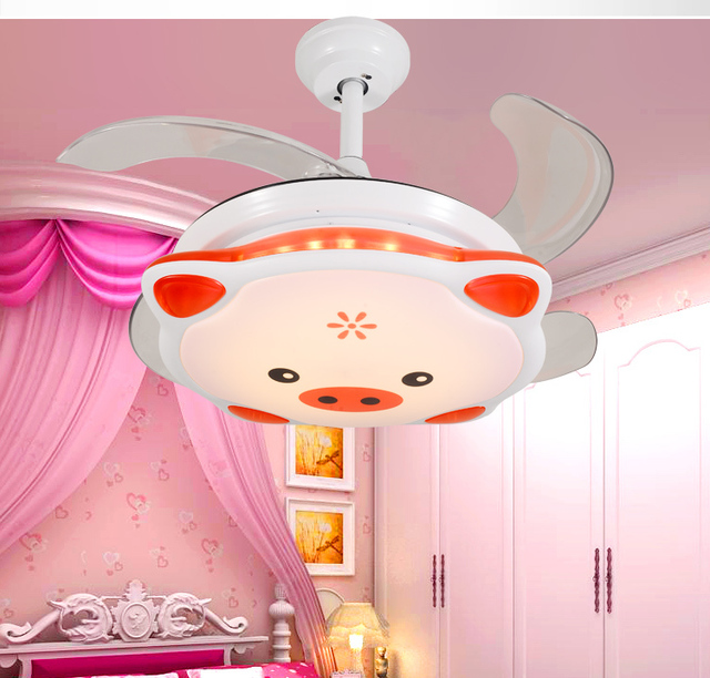 36 inches ceiling fan light led stealth cartoons children cute pig 36 inches ceiling fan light led stealth cartoons children cute pig childrens room ultra aloadofball Image collections
