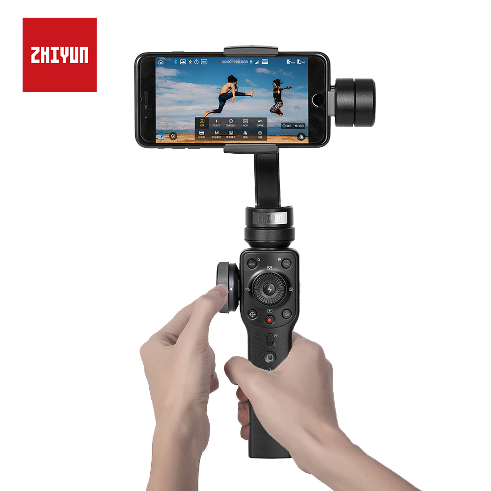 ZHIYUN Smooth 4 Mobile Gimbal With 3-AXIS Object Tracking For Android Phone IPhone Samsung & Action Camera Handheld Stabilizer