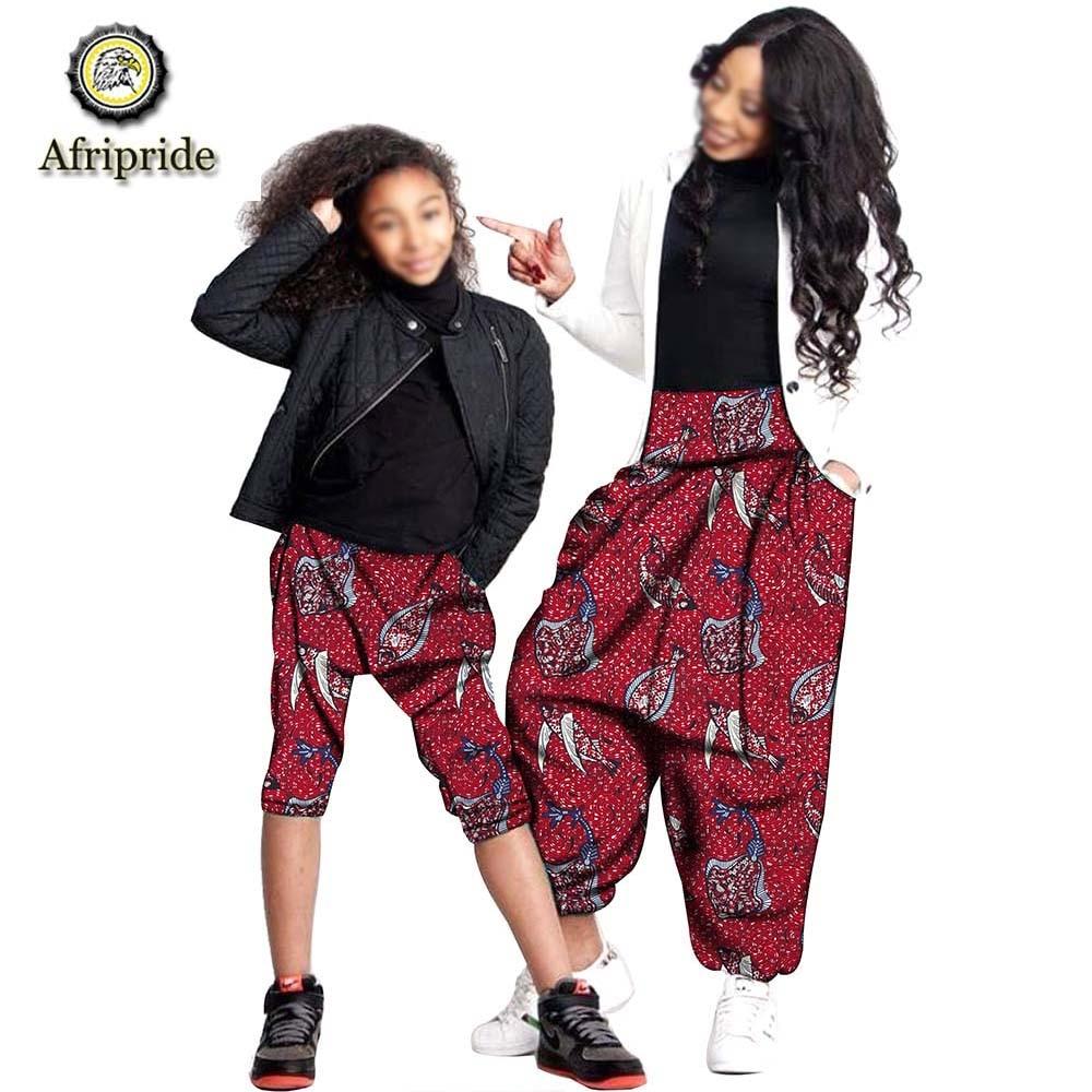2019 штаны в африканском стиле для женщин, Дашики, одежда для девочек, Анкара, ткань, одежда для матери и дочери, восковые AFRIPRIDE с принтом, S19F002