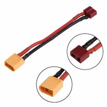 New EC2 Male Banana Connector To XT60 Plug Female Wire Adapter for RC Lipo Battery