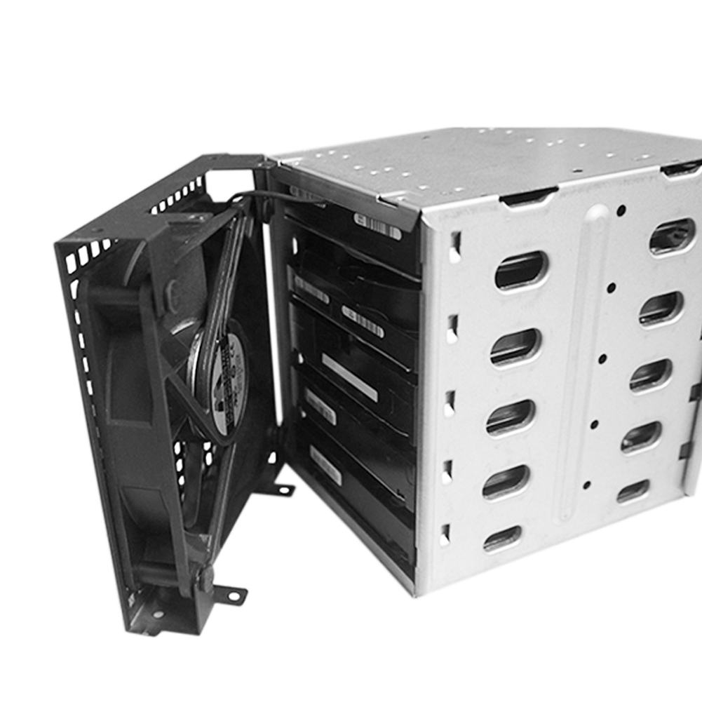 Image 4 - Wholesale New 5 Slots 3.5inch SATA SAS HDD Cage Rack Hard Driver Tray Caddy with Fan Space-in HDD Enclosure from Computer & Office