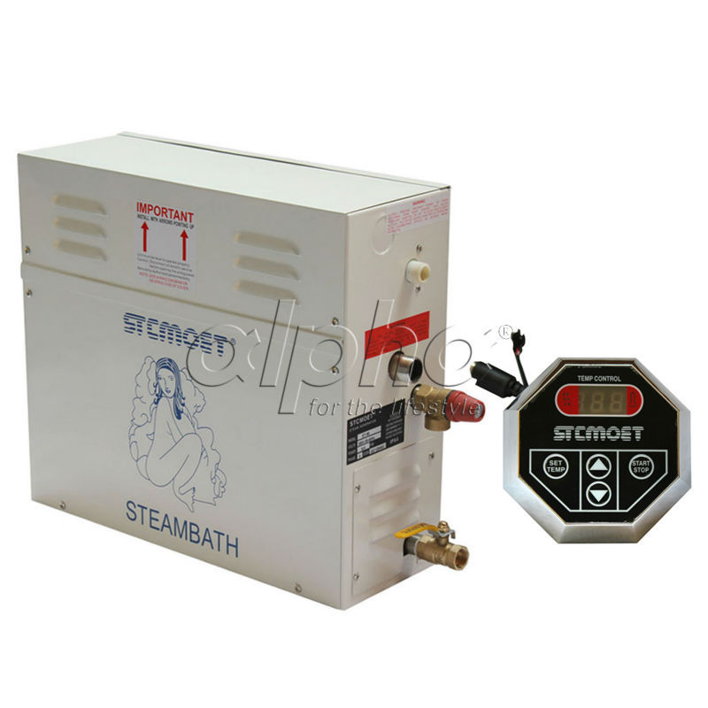 Livraison gratuite Ecnomic type 9KW 220-240 V Générateur de Vapeur Sauna De Bain SPA Douche avec ST-135M contrôleur, Stable performance