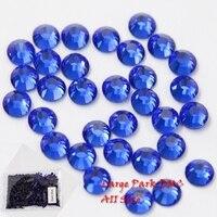 Grote zakken! Factory direct koop goedkoopste Diepe blauw Ijzer Op Hot Fix Steentjes Groothandel DMC Hotfix Strass voor Kleding