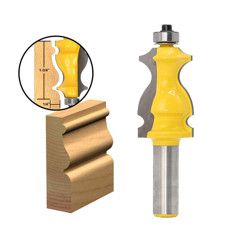 10 Pcs Grinding Bits Alloy Architectural Molding Router Bit Set 1/2 Inch Shank for Woodworking CLH@8 все цены