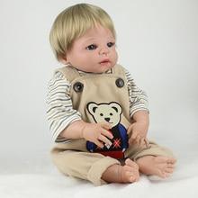 Silicone reborn dolls 22″ lifelike newborn baby girl boy dolls can enter water children bath toys alive baby bonecas reborn
