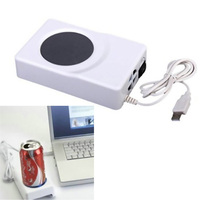 Dual Use USB Cooler Warmer Cup Coffee Tea Beverage Cans Cooler Warmer Heater Chilling Coasters QJY99