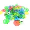 50PCS Golf Ball mark Position Marker Farbe Sortiert Durchmesser 24mm Golf Ball Mark Transparent Kunststoff-in Golf-Trainingshilfen aus Sport und Unterhaltung bei