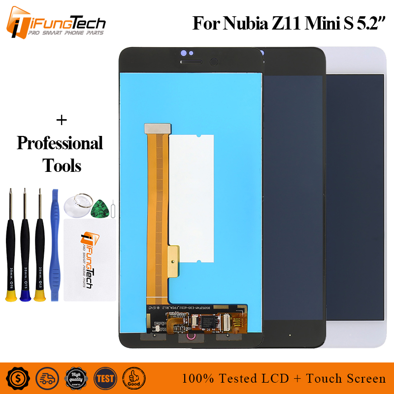 Free Shiping For <font><b>ZTE</b></font> <font><b>Nubia</b></font> <font><b>Z11</b></font> <font><b>Mini</b></font> S NX549J LCD Display <font><b>Touch</b></font> <font><b>Screen</b></font> Digitizer Glass Assembly + Tools image