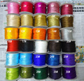 U Pick ! 3mm Rattail Stain Twisted Twine Nylon Cord+Jewelry Macrame Rope Shamballa Bracelet Cords Accessories 30m/roll/Color/Lot