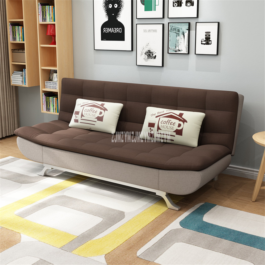 Modern Fashion Foldable Sofa Bed Home Furniture Double Person Apartment Multi-function Bedroom Lazy Sofa Washable 190*85*90cm image