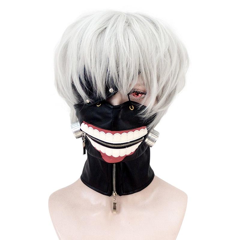 HSIU alta qualità Tokyo Ghoul Cosplay Parrucca Ken Kaneki Costume - Costumi di carnevale