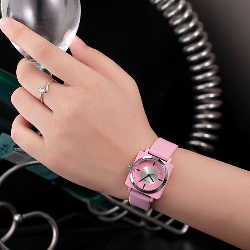 Summer style square silicone women sport watches waterproof REBIRTH popular brand new fashion girls wrist watch quartz clock splendid brand new boys girls students time clock electronic digital lcd wrist sport watch