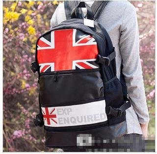 2012 fall new item backpack bag fashion  Canvas shoulder style England flag desigh funny and Humor 6/lot