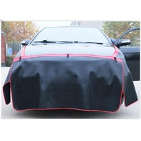 3Pcs Set Black PU Leather Car Leaf Board Pad Fender Body Shield Vehicle Repair Protection Pad