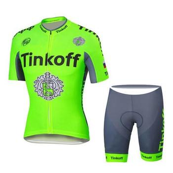 Escocia 9D de tinkoff ciclismo ropa ciclismo manga corta hombres equipo 2020