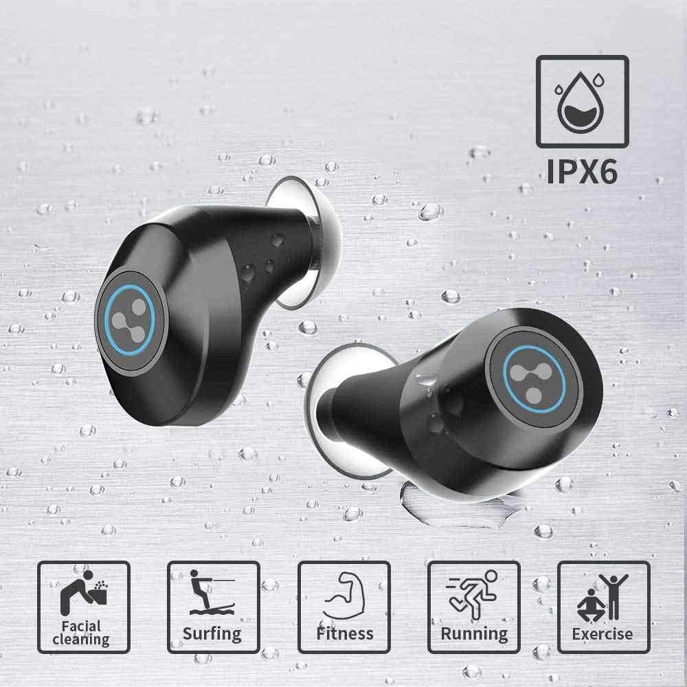 Sylaba S105 bezprzewodowy zestaw słuchawkowy Bluetooth regulacja głośności mini słuchawki sportowe 400 mah Bluetooth V5.0 sylaba S105 słuchawki
