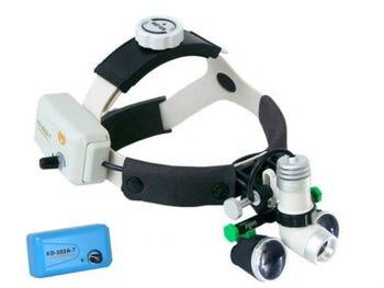 3 W פנס כירורגי רפואי שיניים פנס + 2.5X זכוכית מגדלת רפואית + סוללה