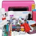Free Shipping Pro Nail Art UV Gel Kit Tool 9W Pink UV lamp Acrylic Powder Nail Tips Acrylic Set