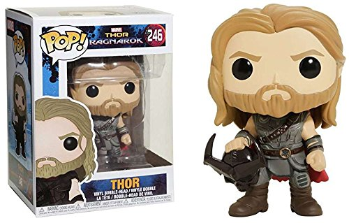 Exclusive FUNKO POP Marvel's Movies: THOR RAGNAROK - Thor #246 Vinyl Action Figure Collectible Model Toy with Original box exclusive funko pop official dc heroes wonder woman 177 blue dress action figure collectible model toy with original box