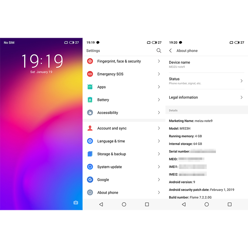 Official Meizu Note 9 Note9 4GB RAM 64GB ROM Global version Cell Phone  Snapdragon 675 Octa Core 6 2