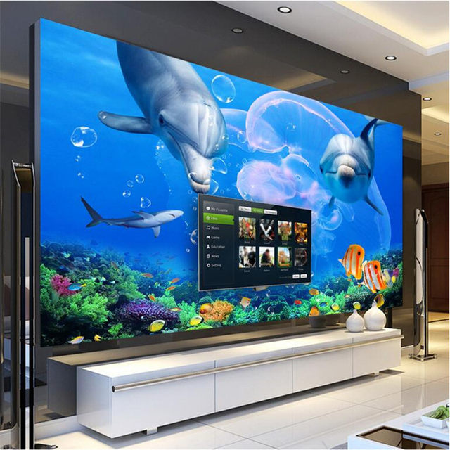 Wallpapers Youman Custom 3d Wallpaper Living Room Dolphin Great White Shark Underwater World Photo Wall Paper Bedroom Kitchen