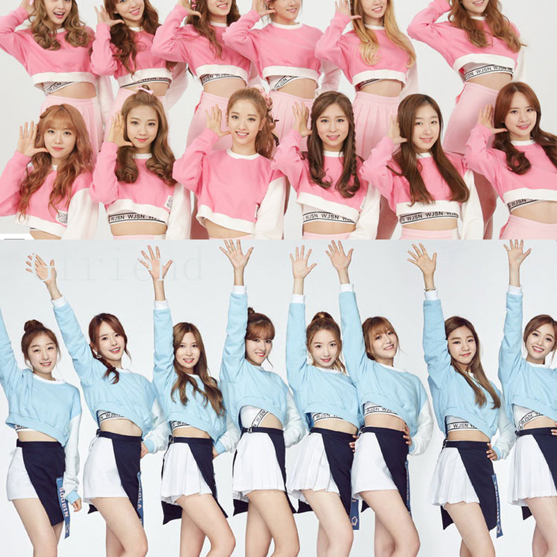 WXCTEAM Gfriend Dress Suit Korean Girl Group Same Paragraph Chic Style School Girl Costume Cheerleader Cosplay School Uniform girl