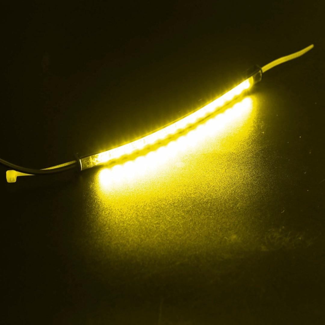 2pcs 12-15V DC Motorcycle LED 39mm-41mm Fork Turn Signal Light 2 Amber LED Strip Smoke Lens For Harley Victory